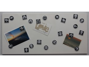 Overwatch magnets (round and edged)