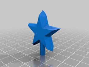 Tree topper star for ceramic holiday tree