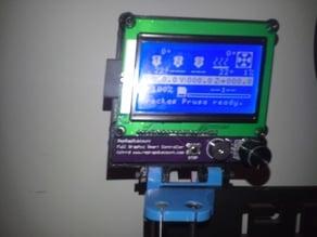 Suporte LCD for Prusa i3 Hephestos