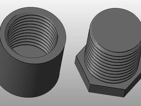 Reverse (Left Handed) Screw and Bolt for Testing your 3D Printer