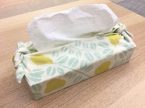Japanese tissue box for Furoshiki and Tenugui wrapping