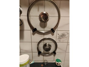 Cooking pot lid wall mount