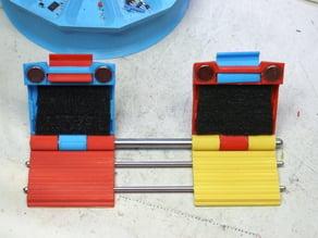 Butt soldering wire holder.