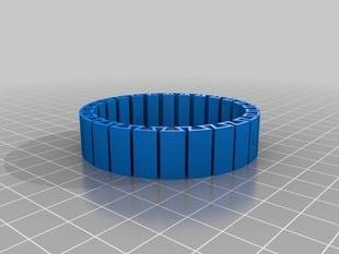 My Customized dual flexible name bracelet