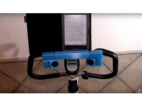 Reading holder for static bicycle