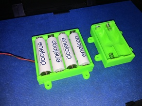Parametric AA Battery Box With Contacts
