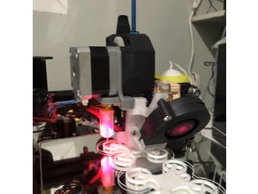 Direct Bondtech BMG Extruder using E3D v6 and Volcano hotend 5015 Fan BLTouch for CR-10, Tevo Tornado and Ender-2