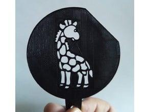 Giraffe Coffee Stencil (Lasercut/3DPrint)
