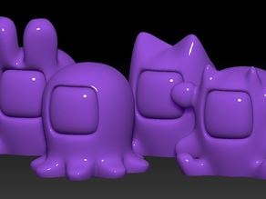 Lucky Cat and Friends HD remix and Flat bases