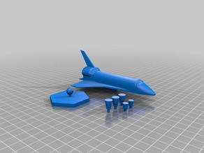 Space ship with removable base