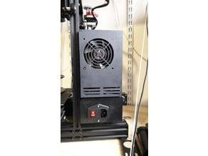 Ender 3 - psu box for 80mm fan / bloc d'alimentation pour ventilateur 80mm