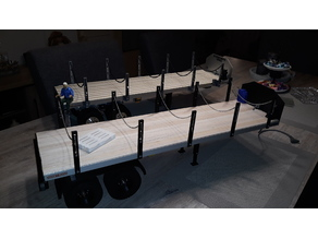 Self-construction Tamiya 1:14 Scale Flatbed Trailer