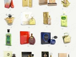 models perfume bottles