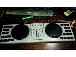 Dj console parts for assembly