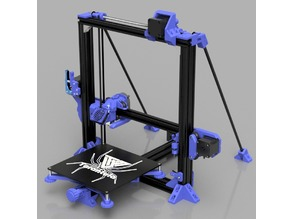 Tarantula Reframed, using stock extrusions: same frame - better prints, Project Name: CARL