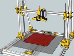 Lautr3k - A 3D printer without belts