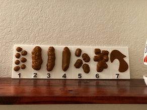 Bristol Stool Chart, Inspired by Dr. Oz