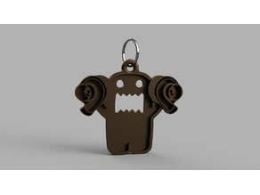 Twin Turbo Domo Keyring