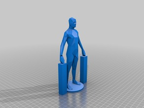 Lowpoly human toy (simplified hands)