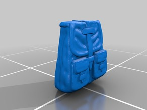 Backpack for 28mm Fantasy Scifi Tabletop or Wargaming Minis Sculptris OBJ Bits