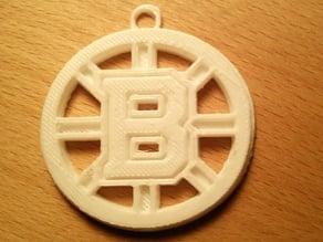 Boston Bruins Logo Keychain