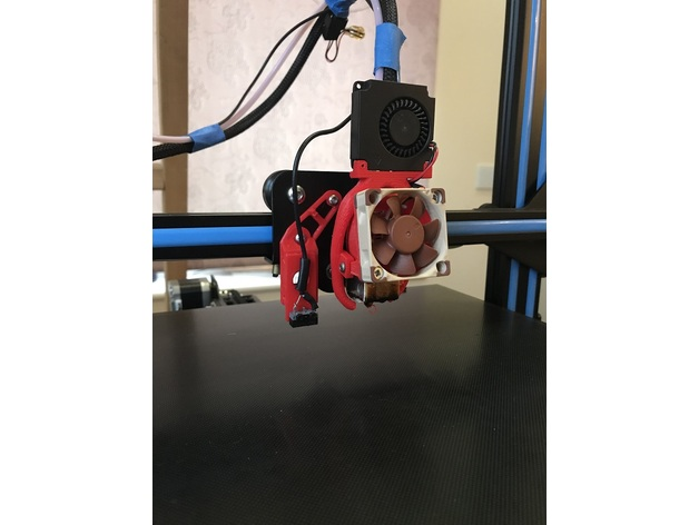 CR-10 custom hotend cooling and microswitch bed leveling