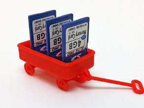 Red Wagon and possible SD card holder