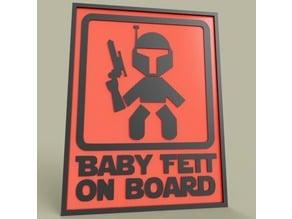 StarWars Baby Fett On Board Boba Fett