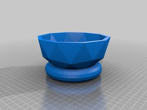 Low Poly Bowl with Stand