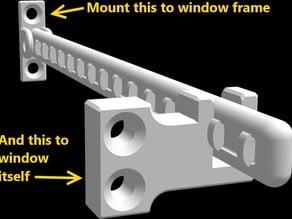 Window latch - position retainer