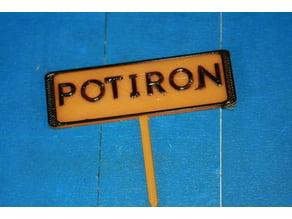Panneau potager Potiron