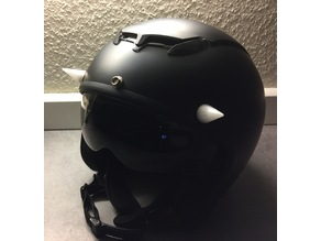 Motorcycle Helmet Horns. Demon look. No screws, no glue!