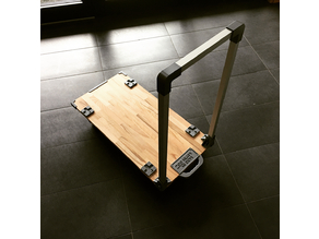 Foldable flat bed trolley