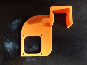 Fan duct/nozzle frame mounting Clip for K8200 / 3Drag