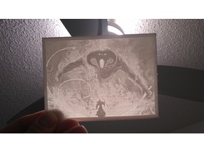 Gandalf and Balrog (Lord of the Rings) - Lithophane