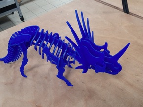 Styracosaurus 3D puzzle: Laser cut version