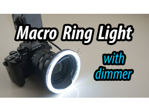 Macro Photography LED Ring Light with dimmer