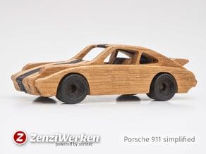 Porsche 911 simplified cnc/laser