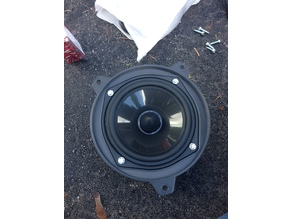 Speaker adapter rings (woofer and tweeter) for BMW vehicles