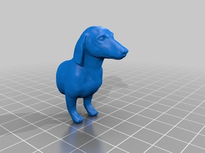 Dachshund office name plate stand