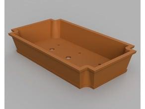 Rectangular Ornate Bonsai Pot with Inverted Circular Corners - No Support Print