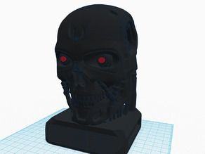 T800 Terminator Exoskull w/ 5mm LED Eyes