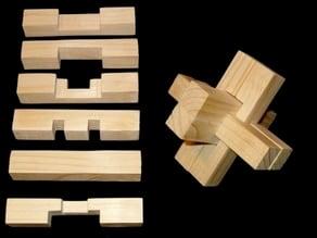 6 Piece Wood Puzzle