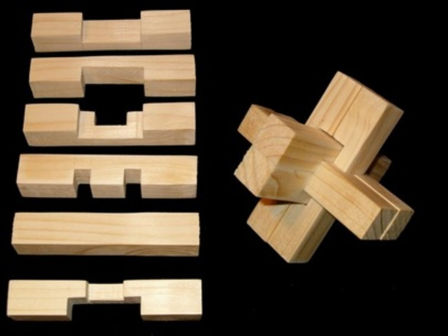 6 Piece Wood Puzzle By Bsbarbaro Thingiverse