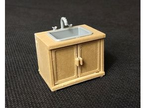 Doll House Kitchen Sink Cupboard Unit