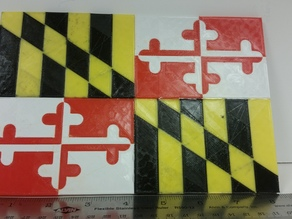 Maryland Flag Dual Extrusion