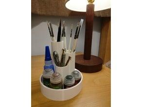 Pen & Brush Desktop Holder