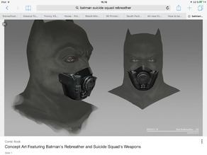 Batman rebreather from suicide squad