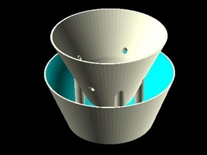 Small Plant Pot with Water container