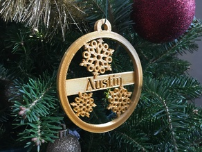 Custom Ornament Medallion Snowflake